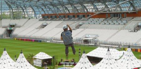vue aerienne du parc des princes sécurité en hauteur - stades & évènementiel